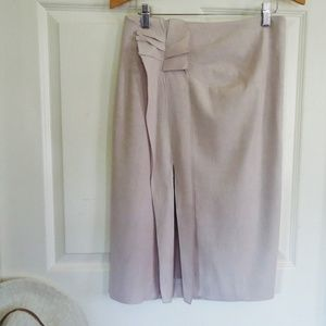 REBECCA TAYLOR SIZE 4 LAVENDER LINEN PENCIL SKIRT
